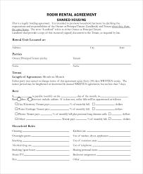 Free Room Rental Agreement Form Ontario Koevoets Info