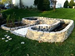 concrete block raised garden bed cinder a google