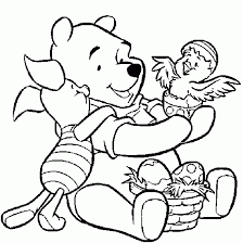 Small Picture EASTER COLOURING page of Winnie the Pooh Disney Easter