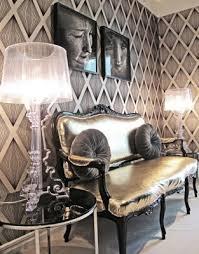 glam gray room