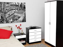 black and white furniture bedroom. high gloss black texture caspian and white bedroom furniture set piece e
