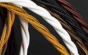 fabric lighting cord. Fabric Lighting Cable 3 Core. Twisted | Core L Cord