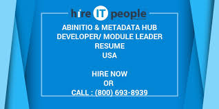 Abinitio Metadata Hub Developer Module Leader Resume Hire It