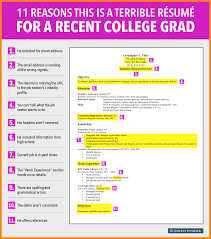 Examples Of College Graduate Resumes Cool Sample Of College Graduate Resume With No Grad Template Student 24