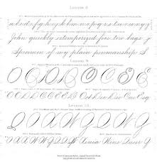 the 1879 spencerian compendium of penmanship in pdf format   the fontfeed