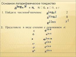 Урок по теме Производная показательной и логарифмической функции  Назад