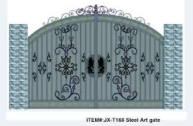 Gorgeous iron gate designYard gate in Fencing Trellis Gates from