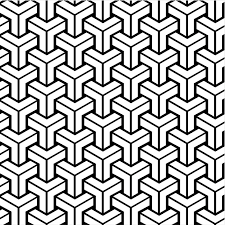 Free Vintage Coloring Book Pages | Retro Patterns Geometric Design Vintage  Wallpaper Seamless Background