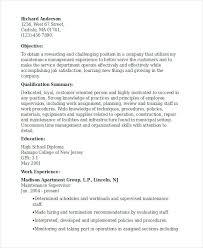 Maintenance Supervisor Resume Sample Topshoppingnetwork Com