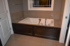 white fancy bathroom interior design with tile bath surround extraordinary bathroom decoration ideas using light brown