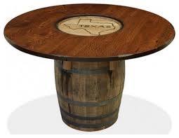 texas 54 whiskey barrel table rustic dining tables houston by gallery furniture