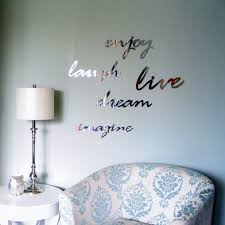 mirror wall decor words set of 2