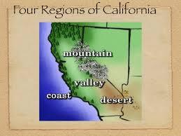 California Regions Regions Of California