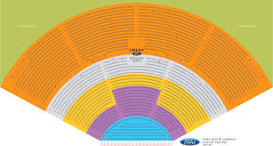 Dte Music Theater Seating Chart Dte Energy Music Theatre Seat Numbers Dte Energy Music