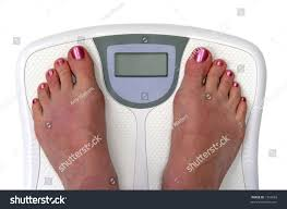 Feet On Bathroom Scale Sceen Blank Stock Photo 1342683 - Shutterstock