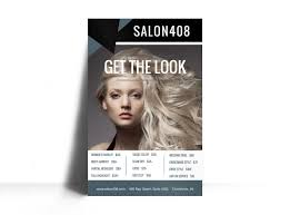 hair salon list poster template