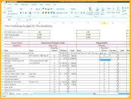 Wedding Budget Template Excel