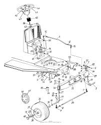 Mtd 135c471f190 lawn tractor l 12 1995 parts diagram for steering rh jackssmallengines front differential