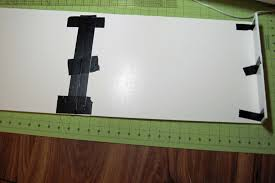 an overall view of the sides middle with duct tape sans l bracket