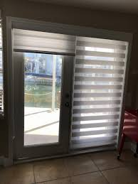 window treatments for doors with half glass lovely zebra illusion 2in1 privacy shades on french doors