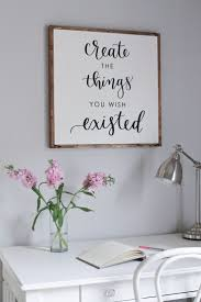 diy office wall decor. diy wood sign with calligraphy quote diy office wall decor s