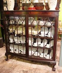english antique display cabinet. Quality 2 Door Mahogany Display Cabinet English C1920 Antique