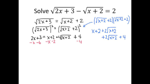 example solving a radical equation square twice