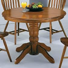 round pedestal kitchen table crown mark solid dark oak round pedestal table dunk within kitchen plan 7 pedestal dining table set with leaf
