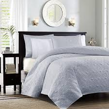 Madison Park Quebec Twin/Twin XL Quilted Coverlet Mini Set - Gray ... & Madison Park Quebec Twin/Twin XL Quilted Coverlet Mini Set - Gray Adamdwight.com