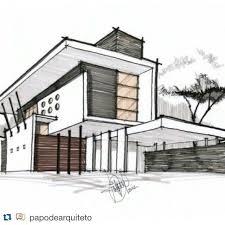 architectural house drawing. Wonderful House Ver Esta Foto Do Instagram De 360arquitetura_ U2022 246 Curtidas  SKET  Pinterest Croquis Architecture And Sketches Intended Architectural House Drawing