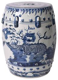 blue and white kylin porcelain garden