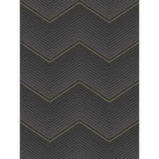 seabrook designs chevron ebony and metallic gold silver stripe wallpaper