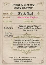 Book Themed Baby Shower Invitations Template Archives  Baby Library Themed Baby Shower Invitations