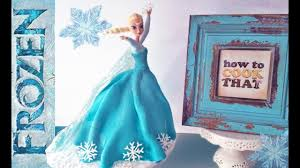 Frozen Elsa Princess Cake How To Cook That Elsa Doll Cake Ann