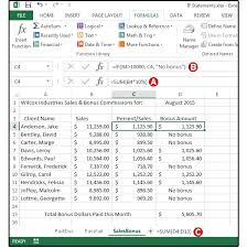 excel logical formulas screen3 use an if statement to calculate s bonus commissions