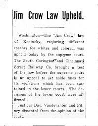 ohiohistory org the african american experience in ohio  jim crow law upheld