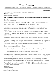 Cover Letter For Product Manager Position Product Manager Cover Letter Sample