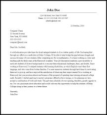 Tutor Cover Letter Tutor Cover Letter Template Academic Cover Letter Sample