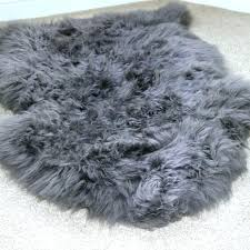 large faux sheepskin rugs grey rug home design ideas intended for fur inspirations ikea sma