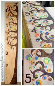 Diy Wood Burned Growth Chart Ruler Diy Wooden Tree Growth Chart