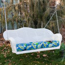 R Blazing Needles All Weather Outdoor Porch Swing Cushion  425L X 195W In   Hayneedle