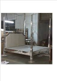 Silver Mirrored Bedroom Furniture A Mirrored Prism Bed Being Made With Silver Tufted Velvet