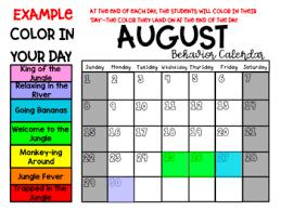 Jungle Classroom Clip Chart And Calendars