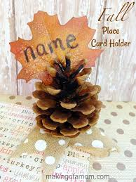 Fall Place Cards Fall Place Card Holder Making Of A Mom