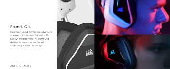 Corsair Headset 7 Dolby Void Gaming com 1 Amazon Rgb Pro Wireless 65pwzq1