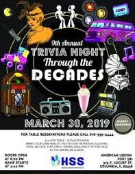 Through The Decades Trivia Night Human Support Services
