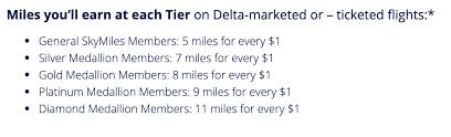 Delta Skymiles Benefits Chart The 19 Best Ways To Earn Lots Of Delta Skymiles 2019