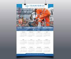 Calendar Design Elegant Playful Construction Calendar Design For A Company