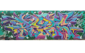 colorful pers graffiti piece just using up ss from previous pieces really fun piece to