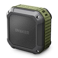 outdoor bluetooth speakers. omaker m4 outdoor portable bluetooth speaker with 12 hour playtime,waterproof wireless shower for outdoor(army green) speakers b